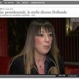 Interview reuters, avant les présidentielles 2012, presse italienne Tv correire